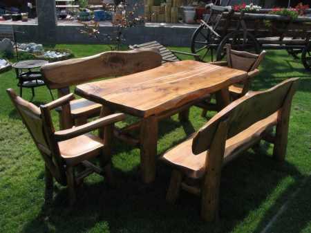 3. Kerti v. konyhai asztal, padok és székek